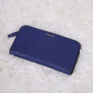 2/$20 Coach blue leather wallet